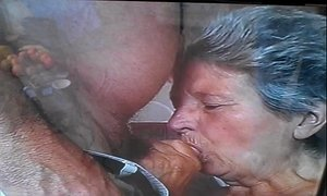 cock  granny  sucking