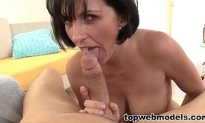 cougar mama  cum  cum swallowing  wife