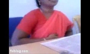 aunt  boobs  indian moms  lady  office