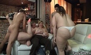 chubby  fuck behind  girl  grandma  party